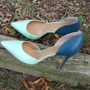 NWOT Banana Republic Dorsay 8.5 colorblock heels